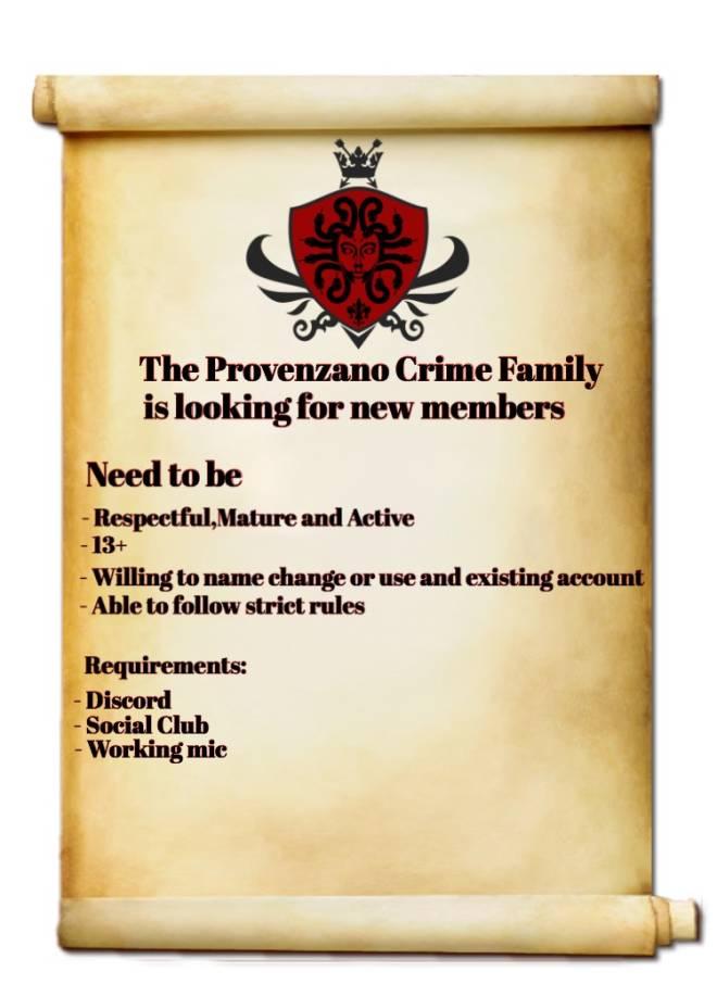 GTA: Promotions - La Provenzano Family Recruitment  image 2