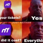 To all you people who are running out of tickets...