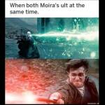 Everytime Moira is synchronized with the other Moira