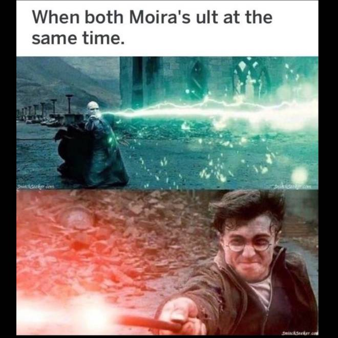 Overwatch: Memes - Everytime Moira is synchronized with the other Moira image 1