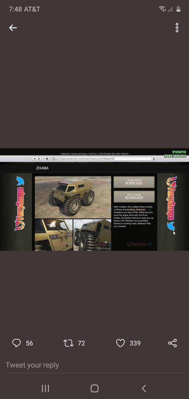 GTA: Promotions - 🔓🚨NOW AVAILABLE IN #GtaOnline  ·  ZHABA ($1,800,000/$2,400,000)  #GTAV #Casino #GTAonline #CasinoH image 1