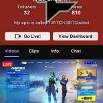 Come follow me or  watch me play on live on twitch