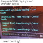 how overwatch in WWIII be like with no healer