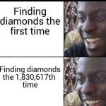 Finding diamonds is always exciting
