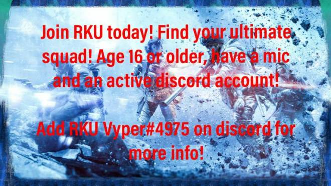 Battlefield: Looking for Group - RKU is recruiting comp players! Dm me for more info!  image 3
