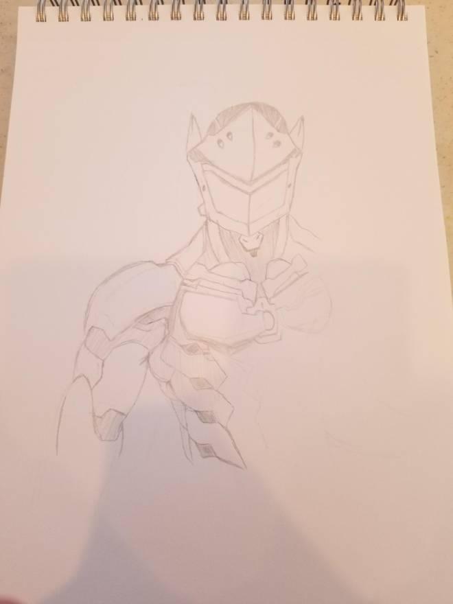 Overwatch: General - My more realistic Genji art! image 5