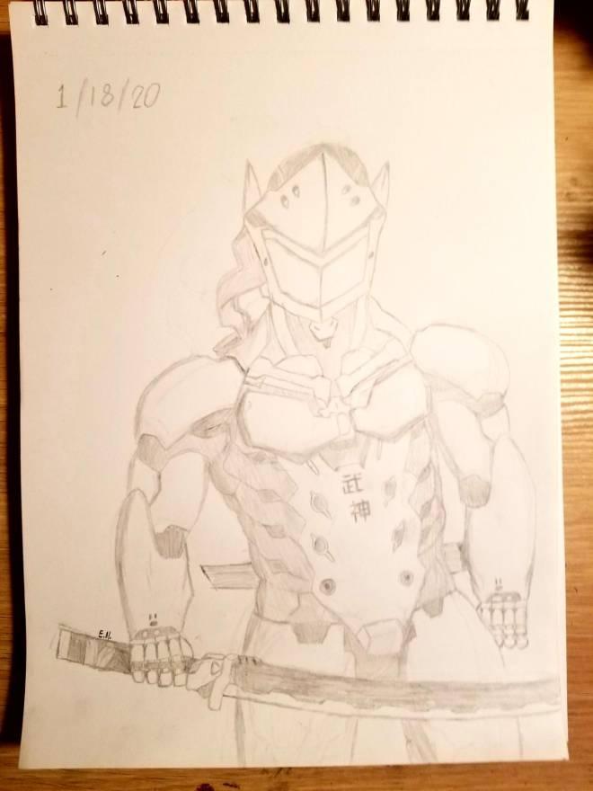 Overwatch: General - My more realistic Genji art! image 2