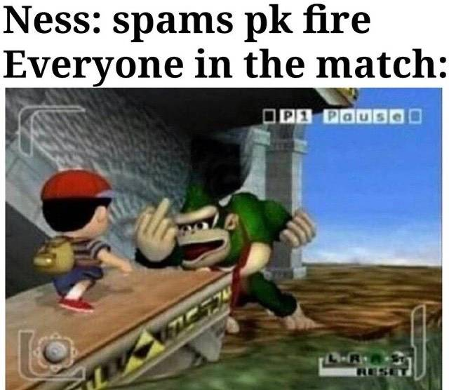 Super Smash Bros: General - Everybody could agree how annoying ness PK fire spam is 😂. image 1