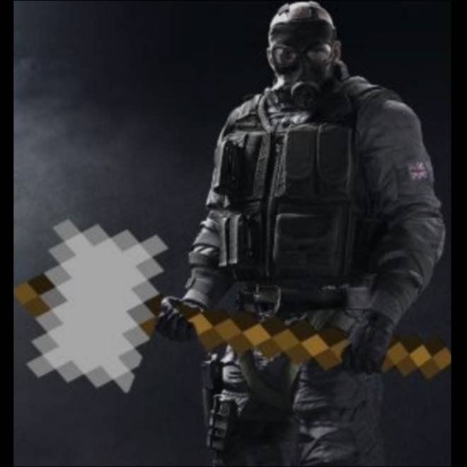 Rainbow Six: Memes - How I thought my Minecraft player would look like after a YouTube tutorial for siege operators image 1