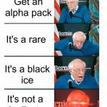 Everyone is freaking out over black ice lol