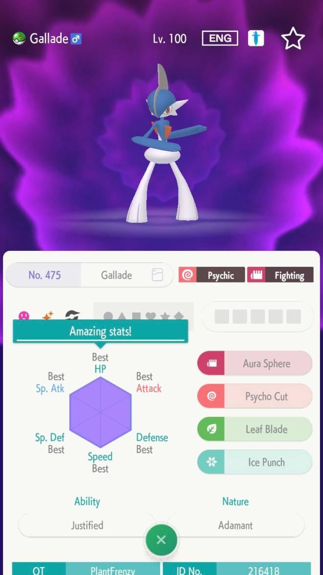 Pokemon: General - ✨Shiny Gallade ✨ for Zacian  image 2