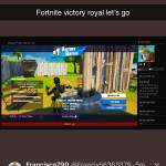 Fortnite victory royal let's go