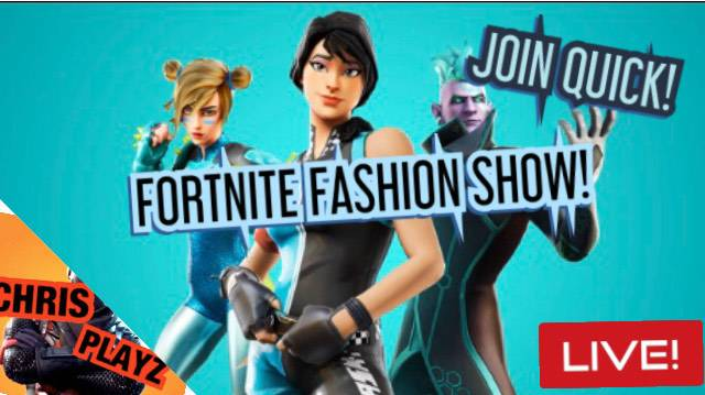 Fortnite: Looking for Group - FORTNITE FASHION SHOW LIVE NOW! JOIN QUICK!!!   https://youtu.be/oH6oTXR92E8 image 4