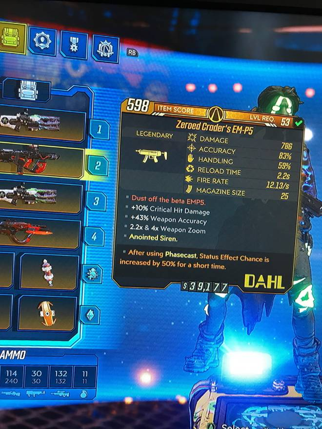 Borderlands: Looking For Group - Looking to trade for another maggie anointed  Have a lot more in bank image 3