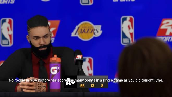 NBA 2K: MyCareer - Highest score my season image 2