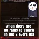 empty Ragna raids