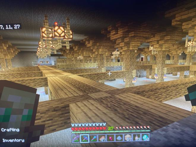 Minecraft: General - So far this is the idea, third picture there a stone brick wall with a village I'm building  image 1