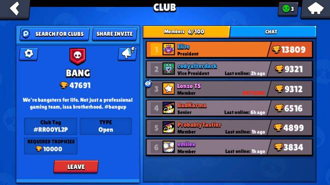 Brawl Stars: Club Recruiting - We active af. Looking for grinders that'll help the clan grow. #tothetop image 1