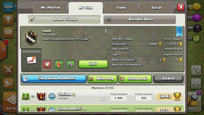 Clash of Clans: Base Building - Join my clan boys. I'm always donating and we always doing wars and clan games. The code  2pc09rgcc image 1
