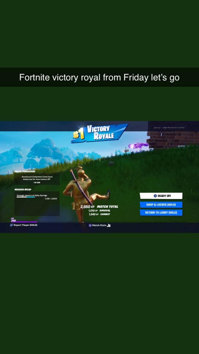 Fortnite: General - Fortnite victory royal from Friday let's go  image 1