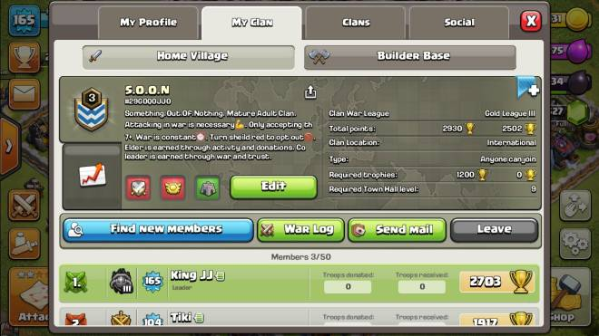Clash of Clans: General - S.O.O.N Join up in need of active members. Was a dead clan that is now turning to active join up. image 1