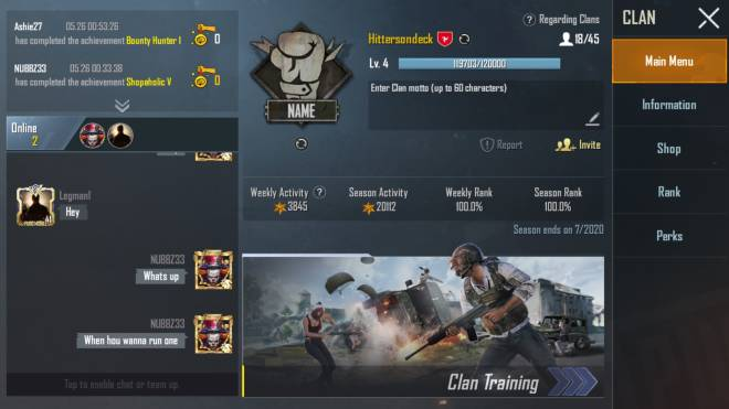 PUBG: General - Join my clan trying to build an active clan. North America preferably #clanbuilding #pubgmobile  image 1