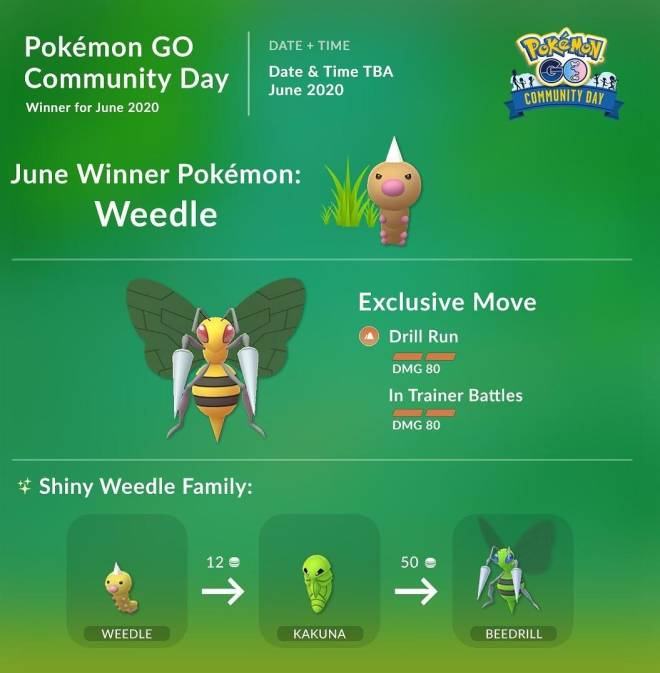 Pokemon: General - June Pokemon Go Day is Beedrill image 2