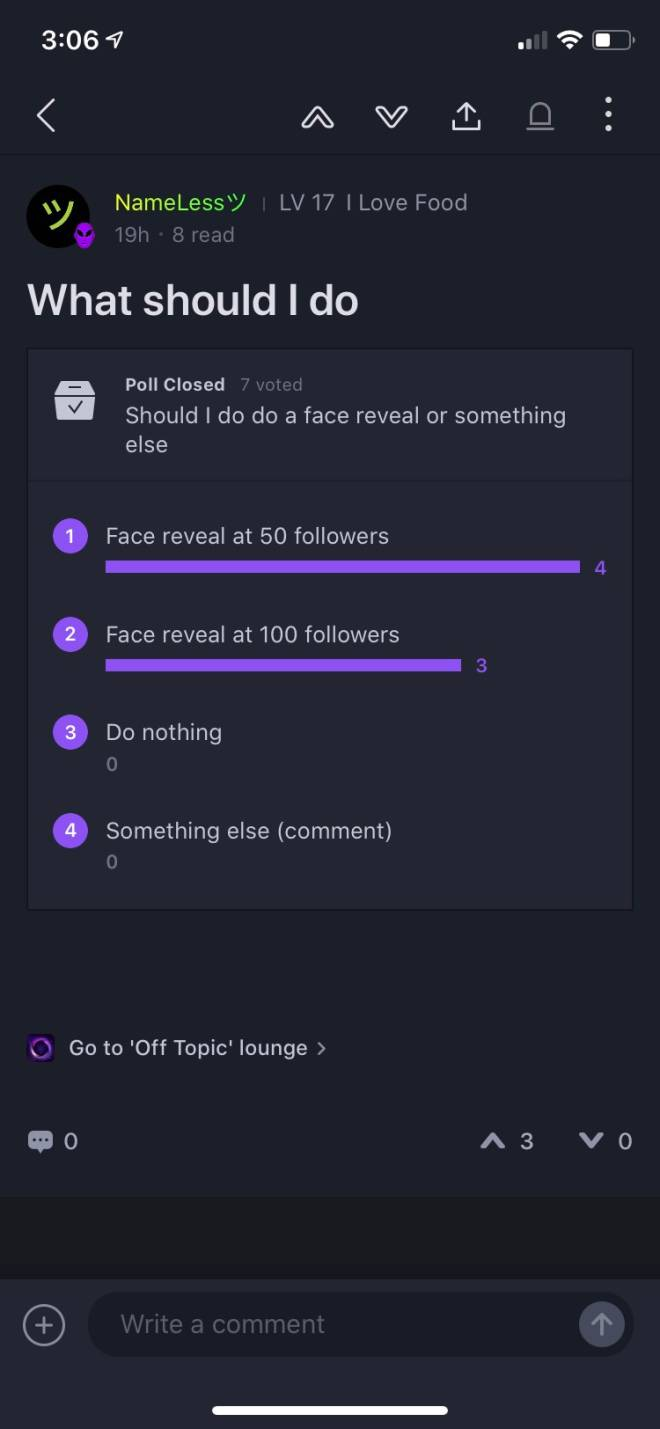 Off Topic: General - Looks like I'm doing a face reveal at 50 followers :l image 2