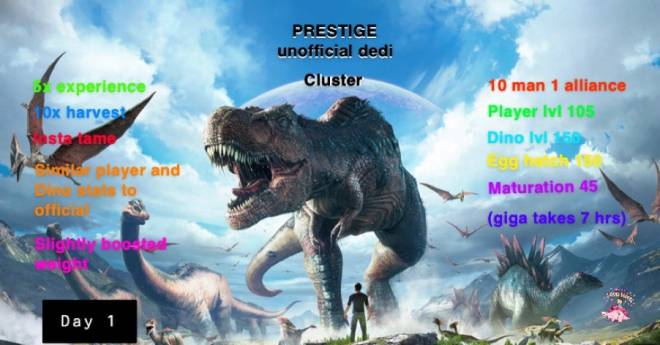 ARK: Survival Evolved: General - PRESTIGE unofficial dedi cluster image 2