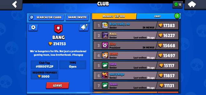 Brawl Stars: General - Recruiting new active members to BANG club image 1