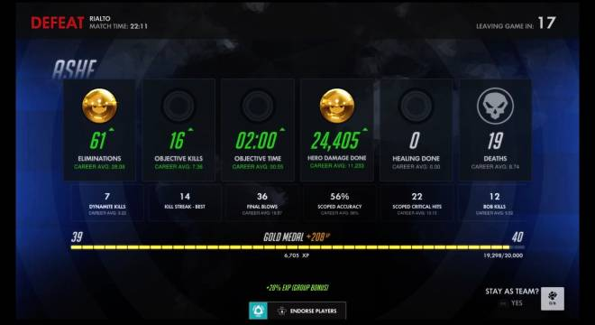 Overwatch: General - First comp game with Ashe results... image 2