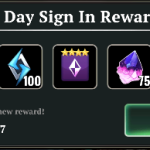 7 Day Sign In Attendance Reward