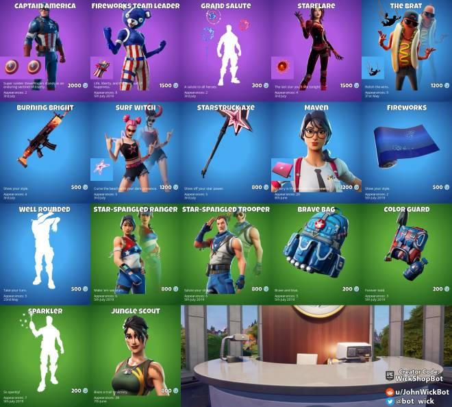 Fortnite: General - July 3rd item shop  image 1