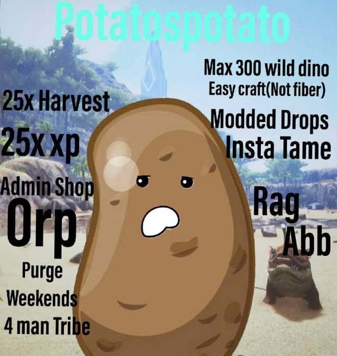 ARK: Survival Evolved: Looking for Group - Are looking for a new server? No admin abuse? Growing community? Come join Potatospotato! Admin shop image 4