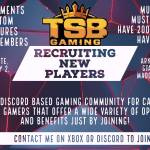 TSB is Recruiting! Join the team! 😎