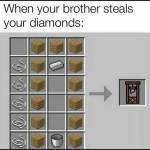 Steals diamonds once
