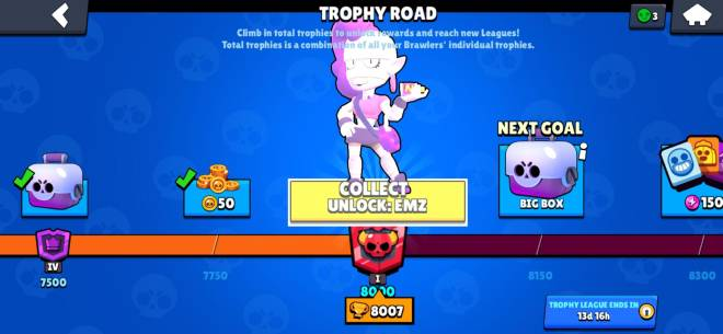 Brawl Stars: General - Finally hit 8000 trophys big thanks to all my freind who helped me there! image 3