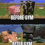 Piggy and cow after working out