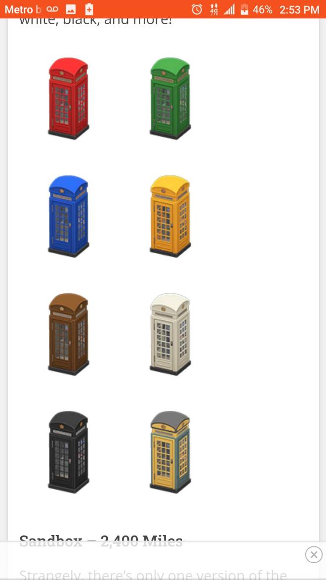 Animal Crossing: Trading - Need phone booths image 1