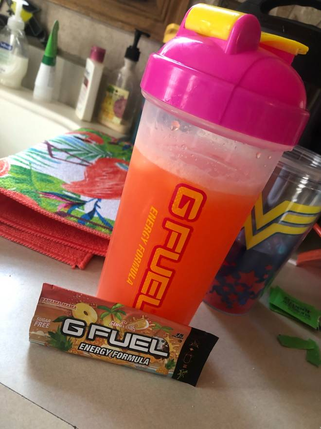 G Fuel: General - Trying out Bahama Mama for the first time ☺️❤️ image 1
