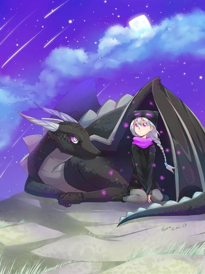 Minecraft: Memes - 💜 ender dragon 🖤🥺 image 2