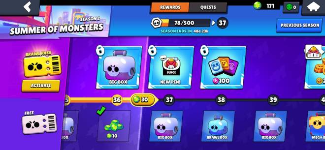 Brawl Stars: General - Finally got battle pass being free to play!😁 image 2