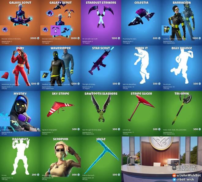 Fortnite: General - August 1st item shop  image 1