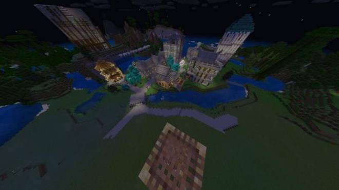 Minecraft: Memes - Warped trees to add more density to my city capitol image 2