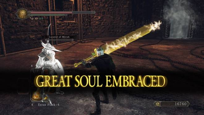 Dark Souls: General - This npc phantom literally survived this boss fight with a pixel frame of health 😂 image 1