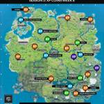 Week 8 XP coin locations