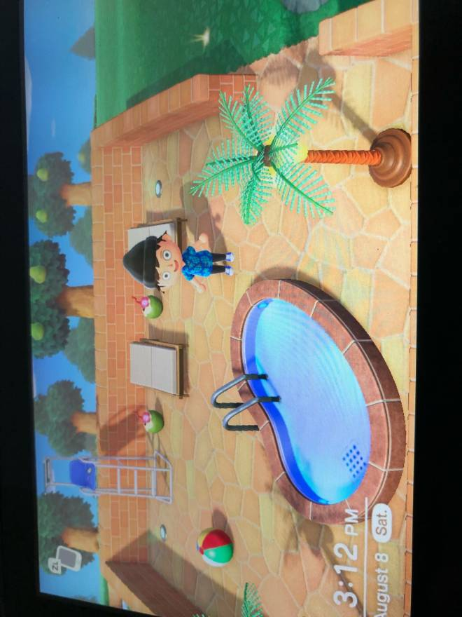 Animal Crossing: Posts - My new pool area  image 1