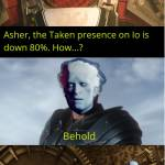 When Uncle Asher gives us credit...