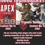 TSB Gaming Wants You!