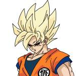 Goku drawing and edit hehehe